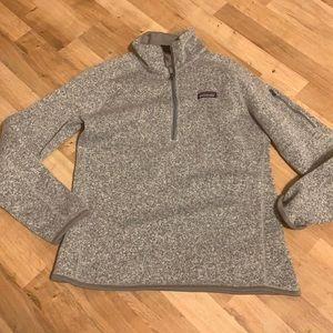 Patagonia fleece 3/4 zip grey sz xs